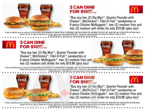 Mcdonalds coupon 2018 canada